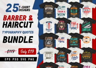 Barber shop t shirt designs, barber t shirt designs, best barber shop quotes, t shirt design for barber shop, T-shirt designs bundle for commercial use, haircut quotes typography pack collection