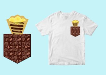 crepe pocket – svg – tshirt design