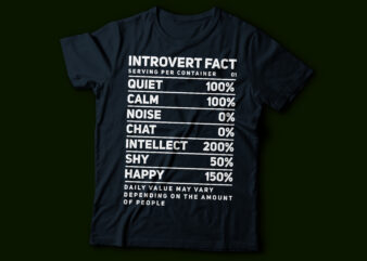 introvert fact typography design | nutrition fact text design