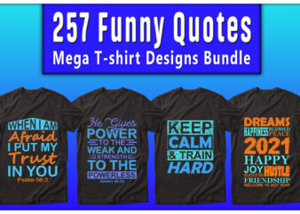 Mega T-shirt Designs Bundle, funny quotes Designs Bundle — 99% Off
