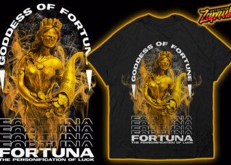 Fortuna Goddess of fortune Trendy Modern Streetwear Tshirt design