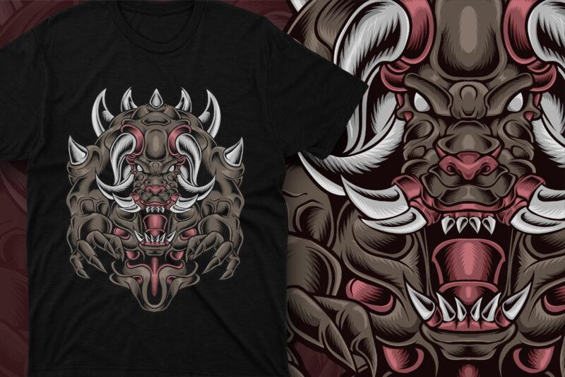 Monster Devil Fang and Horned