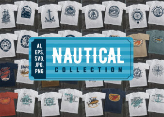 30 Awesome Nautical t-shirt design Collection