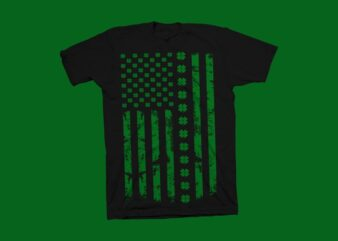 St Patrick's Day Accessories American Flag Shamrock t shirt design for sale