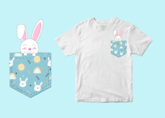 rabbit pocket , svg t shirt design