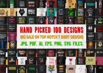 Pack of 100 vector t shirt designs worth more than 500