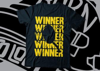 winner winner chicken dinner pubg t-shirt design | gaming tee