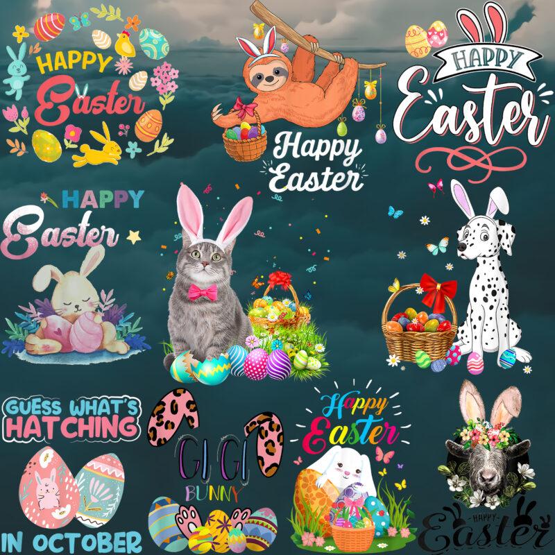 Easter 153 PNG Bundle, Bundle Easter, Happy Easter Day, Easter t shirt design