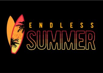 Endless Summer vector clipart