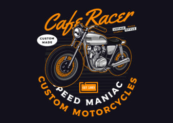Caferacer t-shirt design