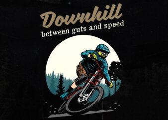 Downhill bike T-shirt design