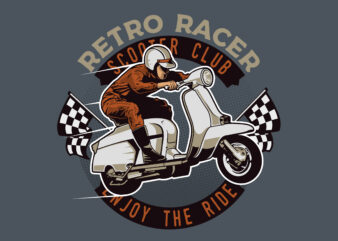 Retro Scooter Racing T-shirt design