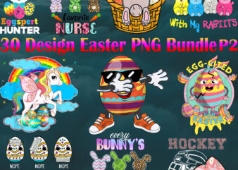 Easter PNG 30 Bundle P2, Bundle Easter, Happy Easter Day, Easter t shirt design
