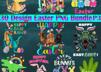 Easter PNG 30 Bundle P3, Easter Bunny Png, Bundle Easter, Easter t shirt design