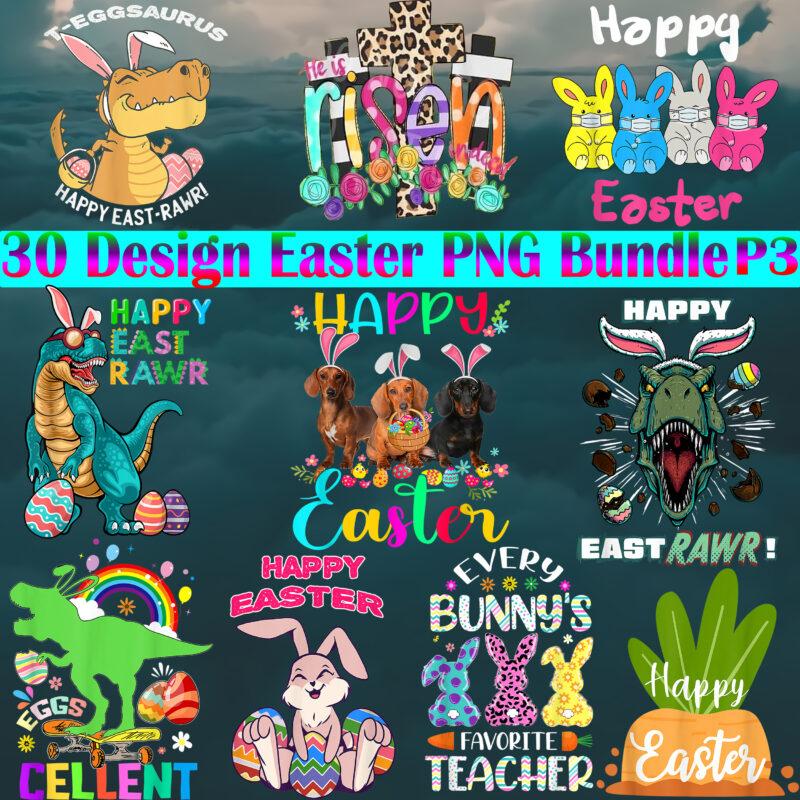 Easter PNG 30 Bundle, Easter Bunny Png, Bundle Easter, Easter t shirt design