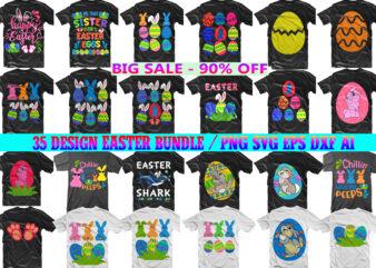Easter Day SVG 35 Bundle, Bundle Easter, Easter Bundle, Rabbit egg easter, Happy easter day t shirt template, Rabbit egg Easter t shirt design
