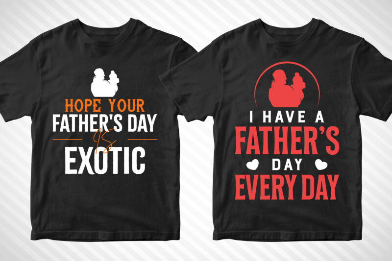 50 Editable Dad Daddy Father's Day T shirt Designs Bundle