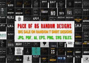 Pack of 85 Random T shirt Designs (Volume 2) Worth more than 500