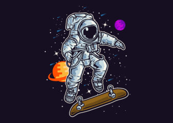 Skate in the Space T-Shirt design