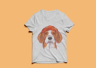 Dog Beagle Tshirt design