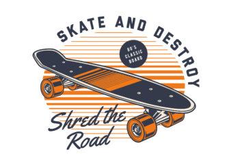 Classic 80s Skateboard T-shirt design