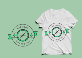 Explore The Woods – adventure tshirt designs , mountain tshirt designs , camping tshirt designs , adventure svg bundle, camping svg , mountain eps – commercial use