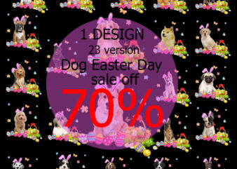 Dog Easter Day Bundle PNG, Corgi PNG, Pug PNG, Bulldog PNG, Inu Shiba PNG, Dobermann PNG Digital Download