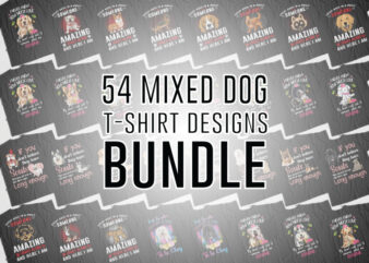 30 Best Selling Mixed Dog T-Shirt Design for Commercial Use