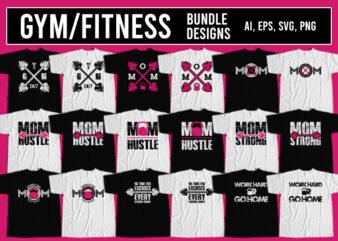 Gym T-Shirt Design Bundle
