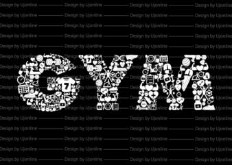 GYM Vector Graphic Fitness T-Shirt Design For Sale