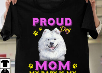 1 DESIGN 50 VERSIONS – DOGS Proud Dog Mom