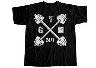 Gym 24/7 T-Shirt Design