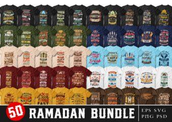Ramadan quotes t shirt designs bundle. Fasting quotes. typography t-shirt design. Fasting slogan. Ramadan creative slogan. T shirt design for commercial use. Vector t shirt design