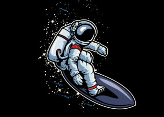 Surf in the Space T-Shirt design