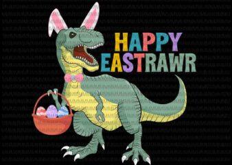 Easter day svg, Happy Eastrawr Svg, Easter Dinosaur, Easter Egg, T Rex Dinosaur Svg, T Rex Easter svg, Dinosaur Easter Day Svg