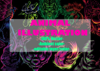 Animal illustration with ambient colors