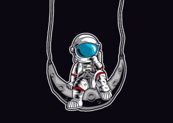 Astronaut and The swing moon