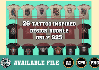 26 tattoo inspired design bundle only $25