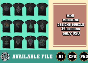 mini monoline design bundle