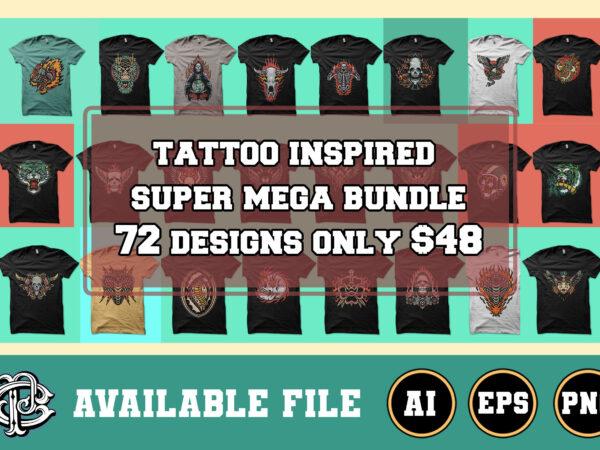 tattoo inspired design mega bundle 72 designs only $48
