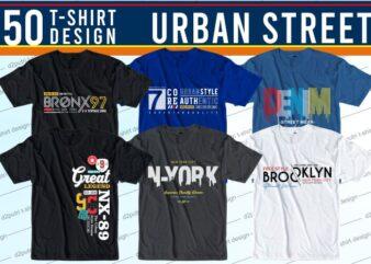 urban street t shirt design bundle graphic, vector, illustration athletic sport streetwear brooklyn new york city usa america lettering typography