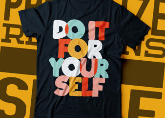 do it for your self pastel color typography design
