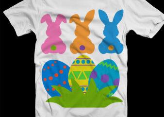 Easter Bunny Svg, Easter bunnies Svg, Easter egg design t shirt template