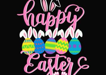 Rabbit egg easter, Happy easter day t shirt template, Rabbit egg Easter t shirt design