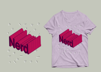 Nerd buy t shirt design – PSD Nerd buy t shirt design – PNG Nerd buy t shirt design
