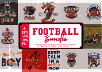 33 Football t-shirt design bundle