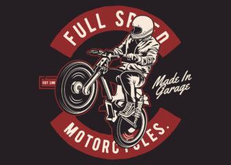 Motorcycle Rider T-shirt design
