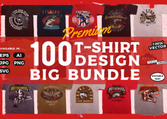 Huge Bundle of 100 Vector T-Shirt designs!!