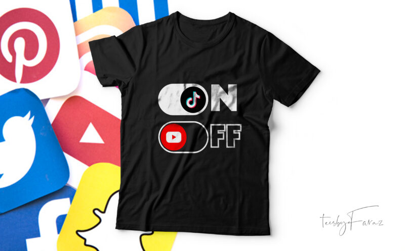 Pack of 10 Social media ON/OFF T shirt designs for sale