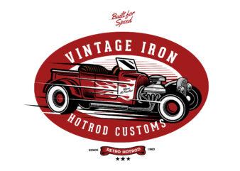 Retro Hotrod T-shirt design